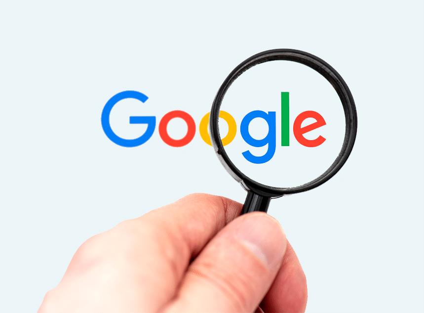 Hoger in Google